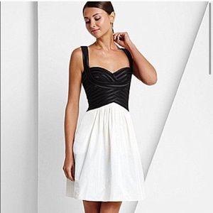 BCBGMaxazria cocktail black white dress size 4